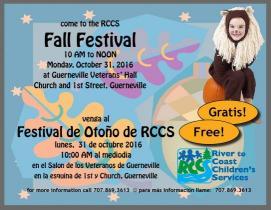 Fall Festival 2016 flier