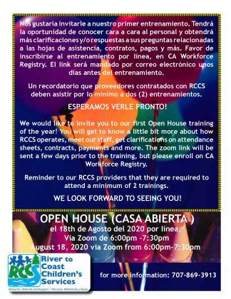 open house 2020 flyer