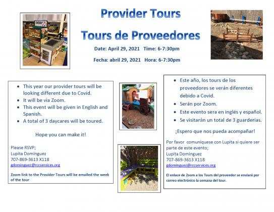 flyer for provider home tours 2021