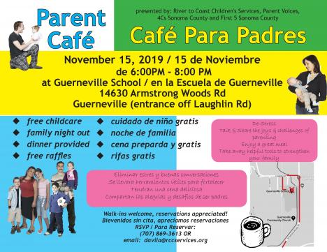 parent cafe flyer