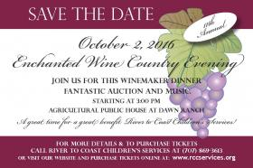 enchanted wine country evening October 2-20-16 save the date card