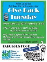 give back tuesday April 30 2019 at rainbow cattle company