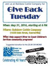 give back tuesday may 28 2016 at rainbow cattle company