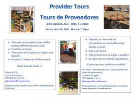 flyer for provider homes tour 2021