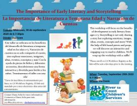 early literacy workshop  9-2020 flyer